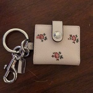 Coach key fob w/picture insert